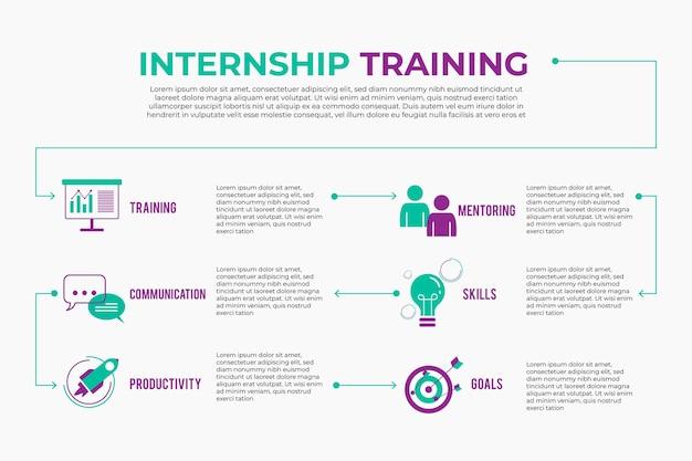 Internship training infographic Free Vector