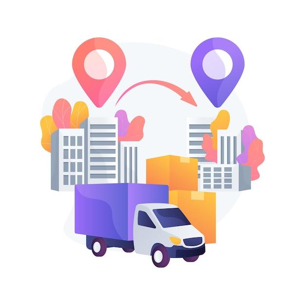 도시 간 마이그레이션 추상 개념 벡터 일러스트입니다. 사람들의 움직임, 인구 조사 대도시 지역, 티켓 구매, 비행기 열차로 여행, 가방 여행 가방을 가진 사람들은 은유를 추상화합니다. 무료 벡터