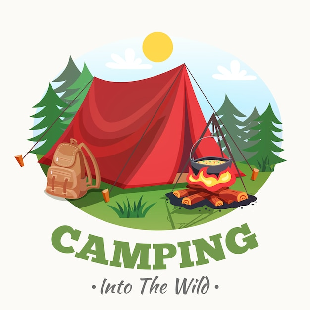 Into the wild background Free Vector
