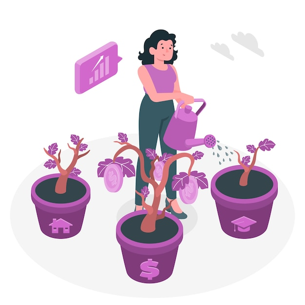 Illustrazione di concetto di investimento Vettore gratuito