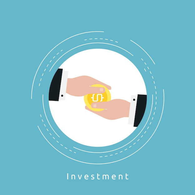 Investment background design Free Vector