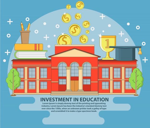 Investment in education Premium Vector