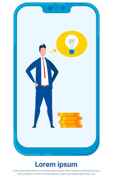 Investment expert flat illustration Premium Vector