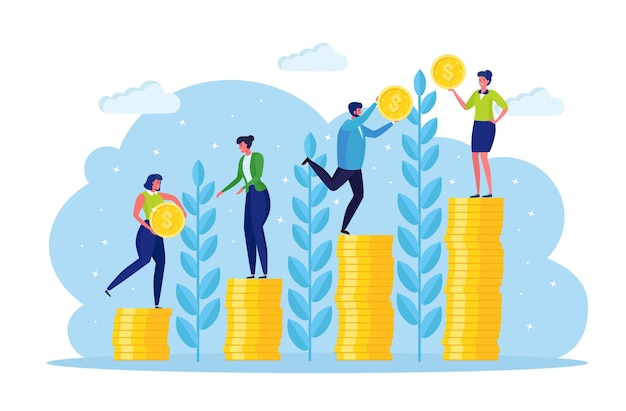 Investment and finance growth concept Premium Vector