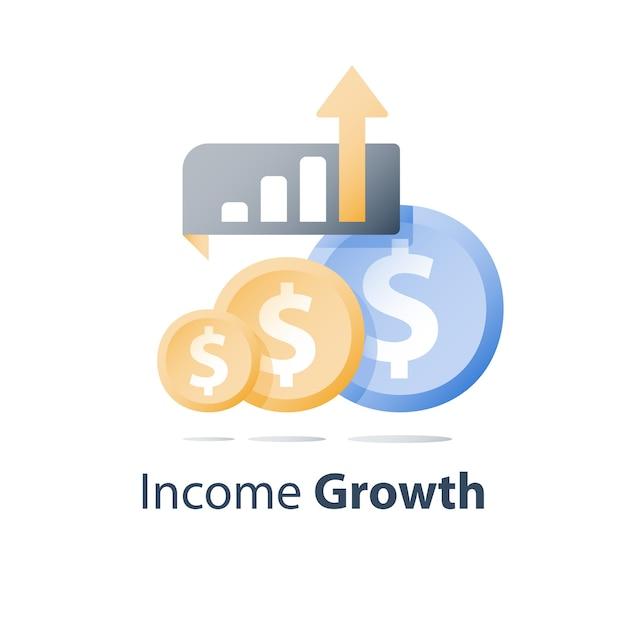 Investment portfolio growth Premium Vector
