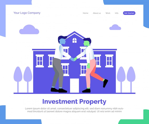 Investment property landing page Premium Vector