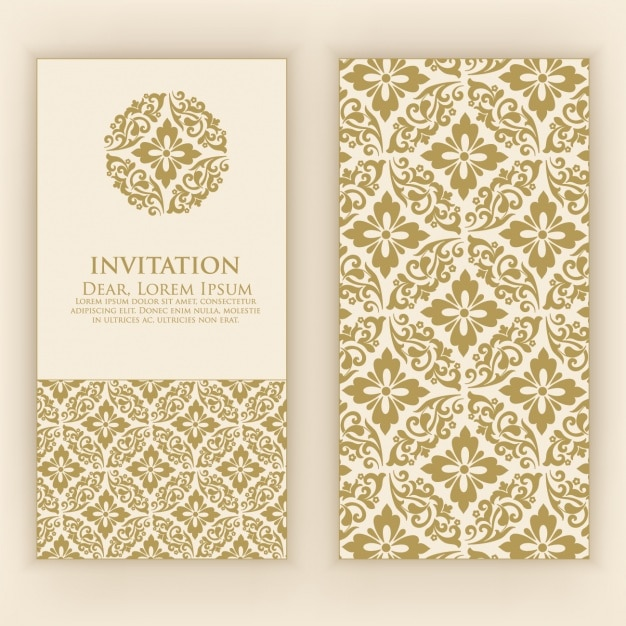 Invitation card design vector premium download invitation card design premium vector stopboris Image collections