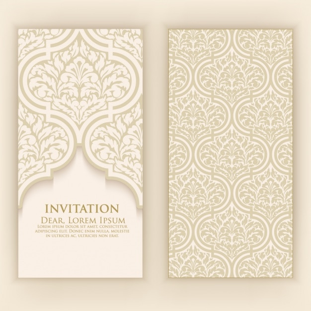 Invitation Card Design Vector Premium Download
