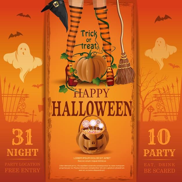 Пригласительный билет на вечеринку в честь хэллоуина. ешь ...  Пригласительный Билет В Клуб