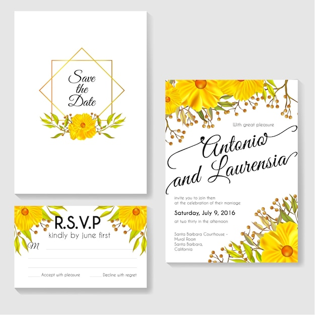 invitation card template design vector