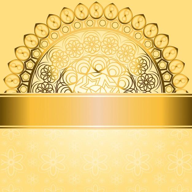 Premium Vector Invitation Card Vintage Design With Mandala Pattern On Purple Background