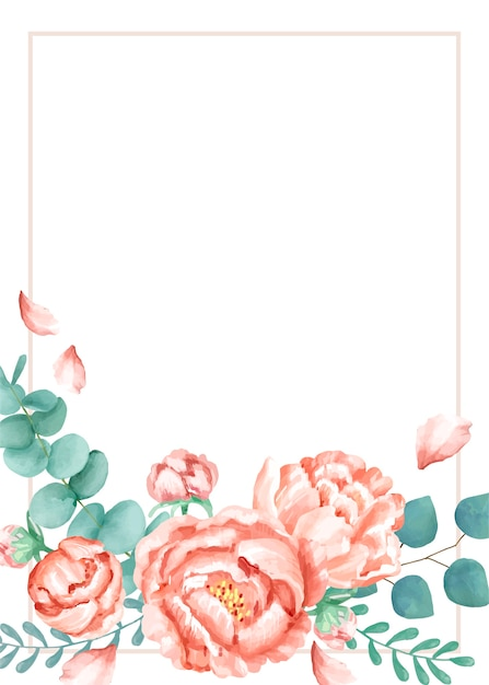 invitation card with a floral theme vector free download
