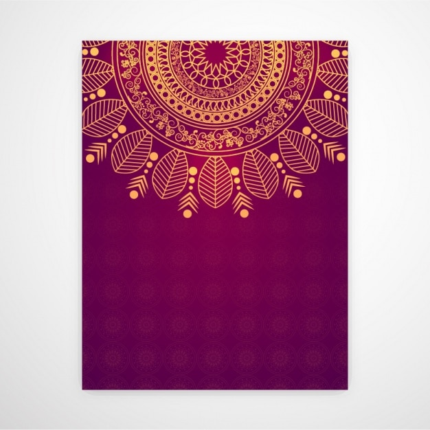 Invitation card with beautiful mandala vector premium download invitation card with beautiful mandala premium vector stopboris Images