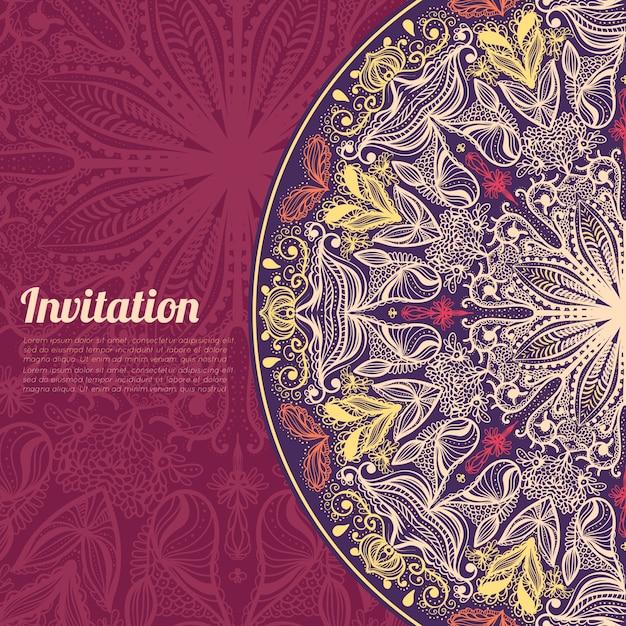 Invitation card Free Vector