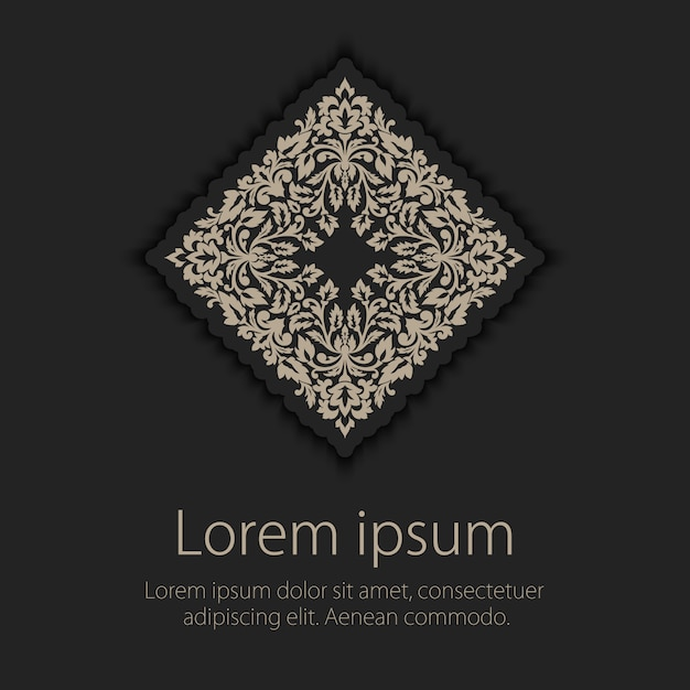 Invitation, cards with ethnic arabesque elements. arabesque style design. business cards. eps10 Free Vector