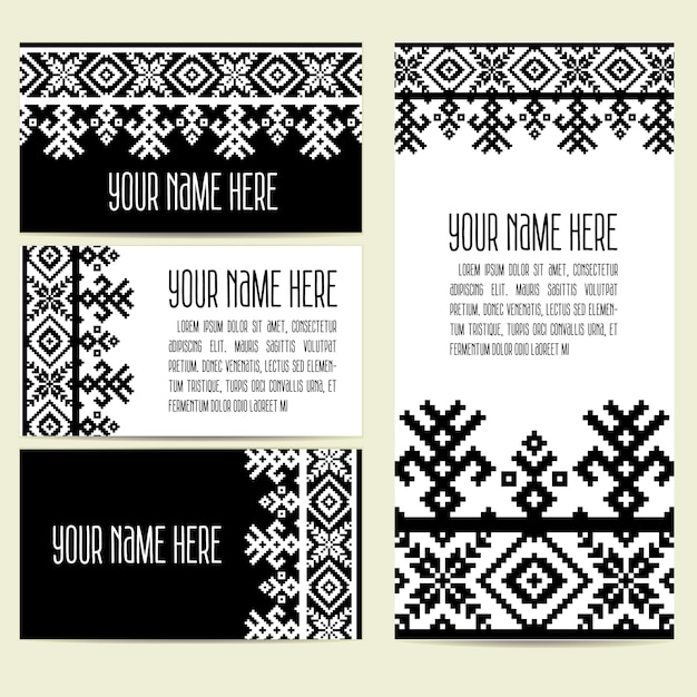Invitation cards with ethnic ornamental elements vector free invitation cards with ethnic ornamental elements free vector stopboris Choice Image