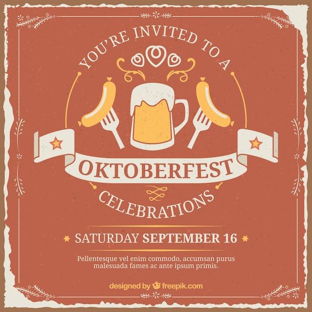 invitation for oktoberfest vector | free download, Einladung