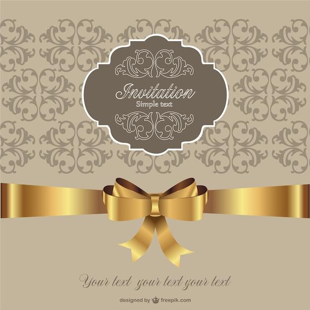 Invitation golden ribbon retro style vector free download invitation golden ribbon retro style free vector stopboris Gallery