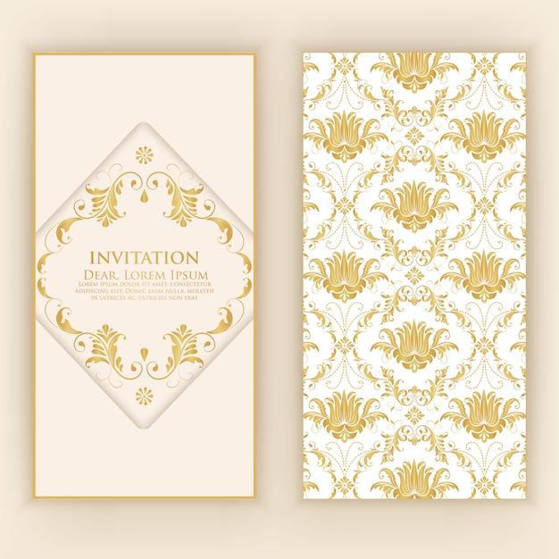 抽象的な装飾品の招待状のテンプレート 無料ベクター