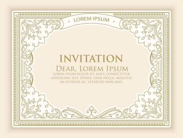 エレガントなビンテージ装飾の招待状のテンプレート 無料ベクター