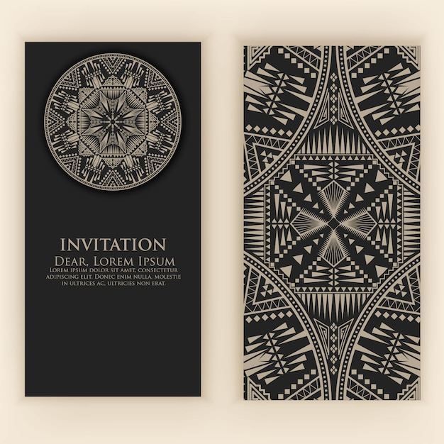 Invitation template with vintage decorative elements Free Vector