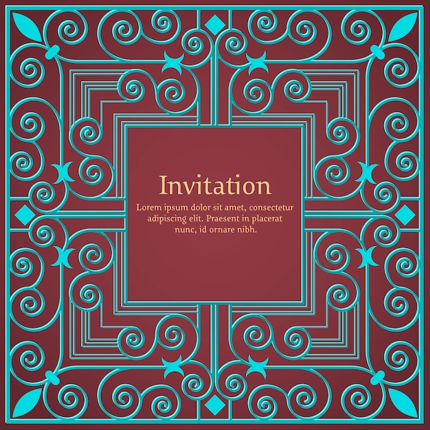 Invitation or wedding card with floral background and elegant floral elements. Free Vector