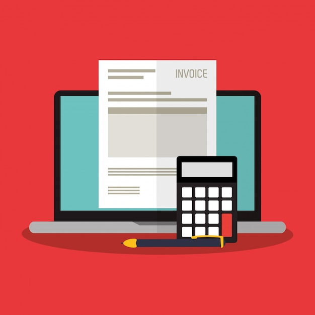 Invoice economy related icons Premium Vector