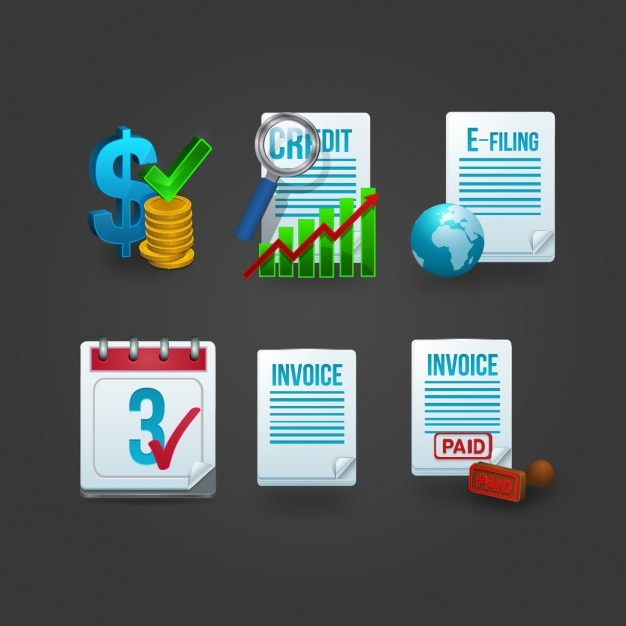 Invoice Icon Collection Free Vector