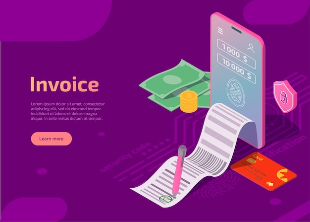 Концепция мобильных платежей безопасности иллюстрации счета Бесплатные векторы