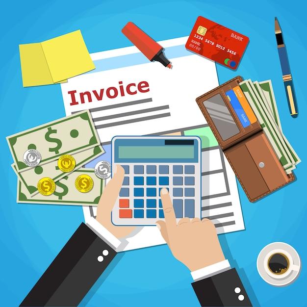 Invoice payment design Premium Vector