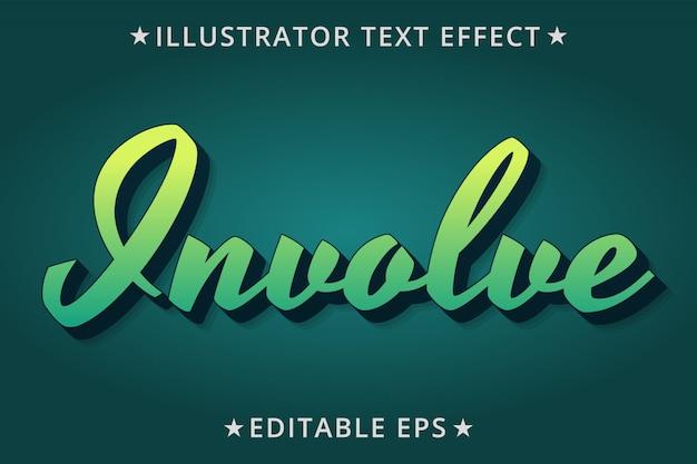 Вовлечение редактируемого эффекта стиля текста Premium векторы