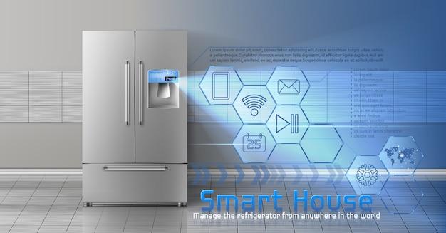 Концепция интеллектуального дома, iot, беспроводные цифровые технологии для управления и контроля домашних хозяйств Бесплатные векторы