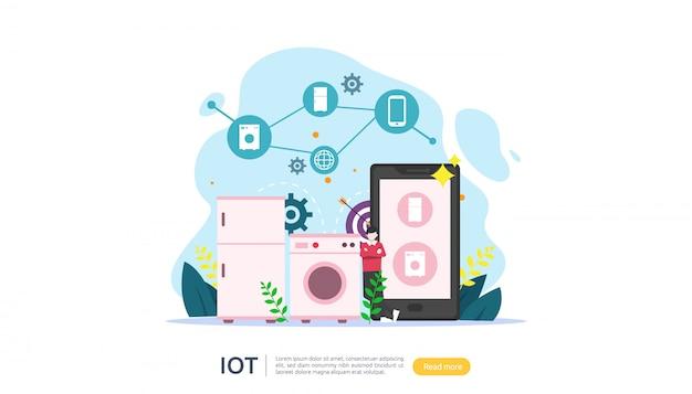 Iotスマートハウス監視の概念 Premiumベクター