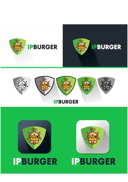 Ip Burger Logo Icon Vector Premium Download