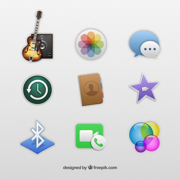 Iphone app icons Free Vector