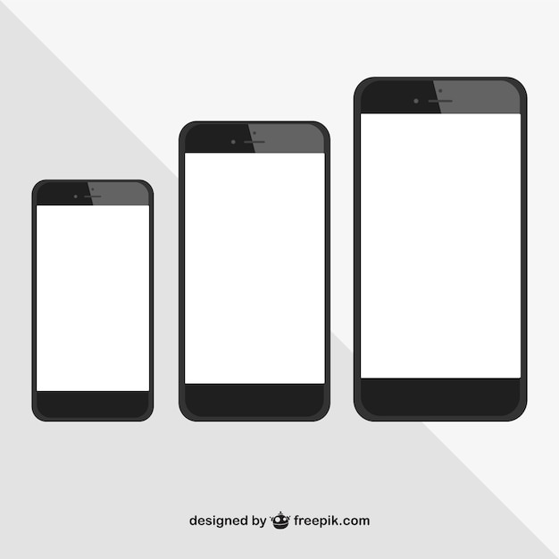 Iphone comparation vector Free Vector