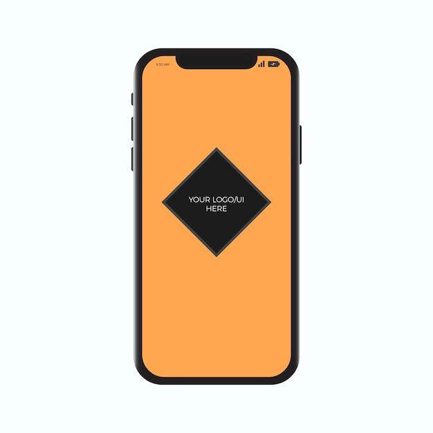 Iphone x realistic mockup template smartphone Premium Vector