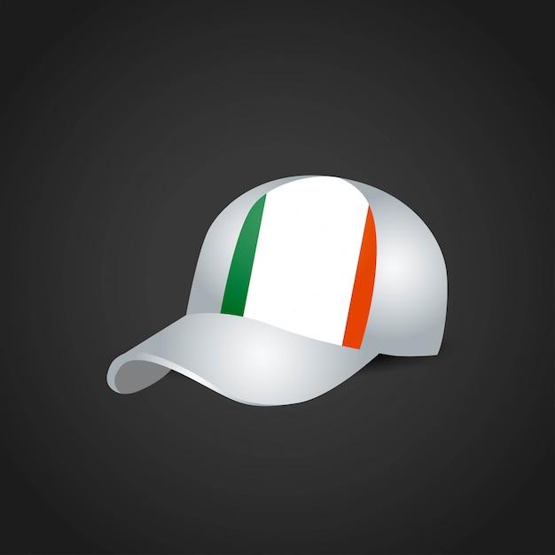 Ireland flag cap design vector Premium Vector