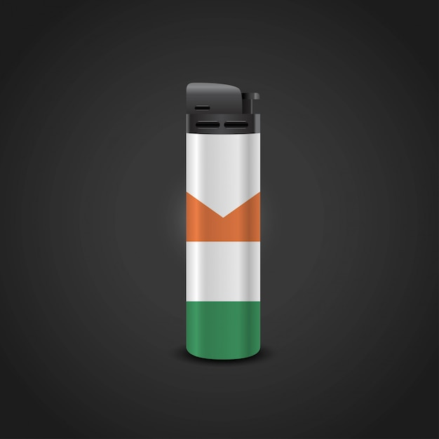 Ireland flag lighter design vector Premium Vector
