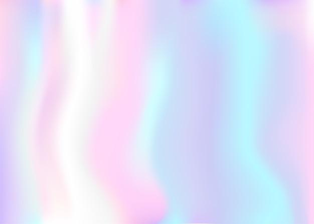 Iridescent holographic background Premium Vector