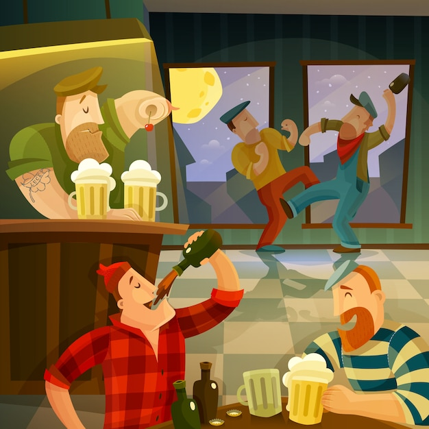 Irish pub background Free Vector
