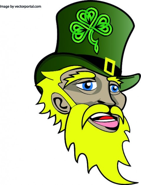 Irish saint patricks face Free Vector