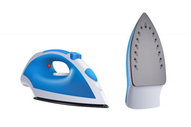 Iron blue set Premium Vector
