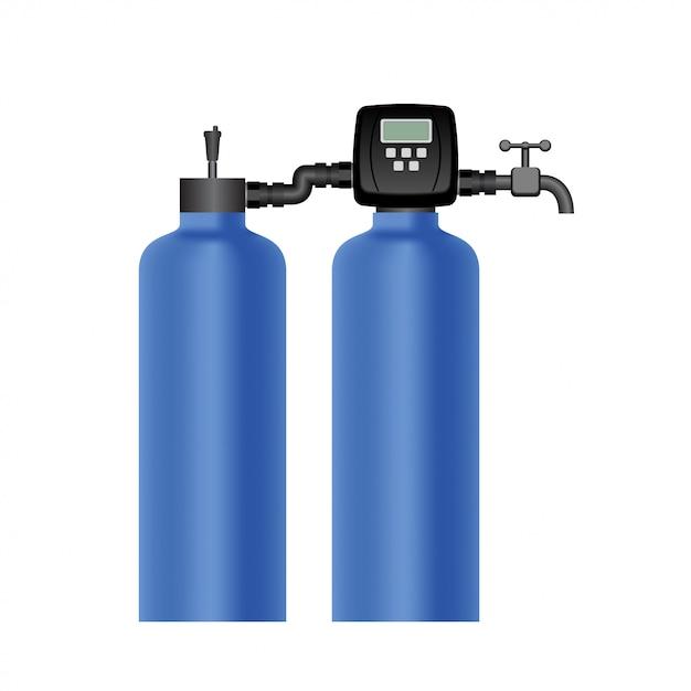 Iron removal filter Premium Vector