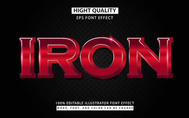 Железный стальной текстовый эффект шрифта Premium векторы
