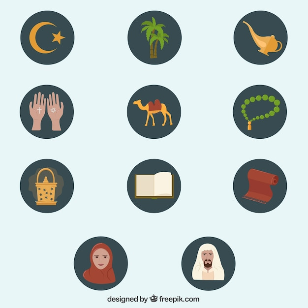 Islam Icons Vector Free Download