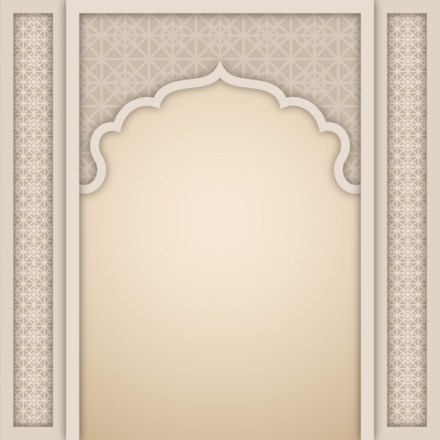 Hall Arch Designs For: Islamic Arch Design Template Vector