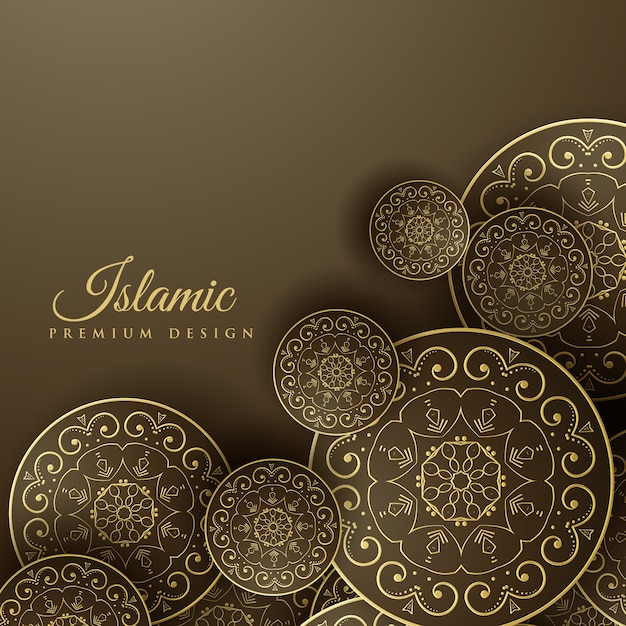 Islamic Book Cover Design Vector : Islamic background with mandala decoration vector free