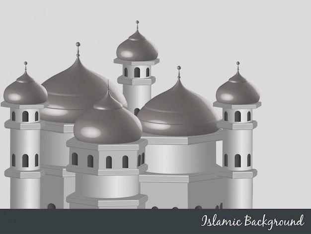 Illustrazione vettoriale islamico di sfondo vettoriale Vettore gratuito
