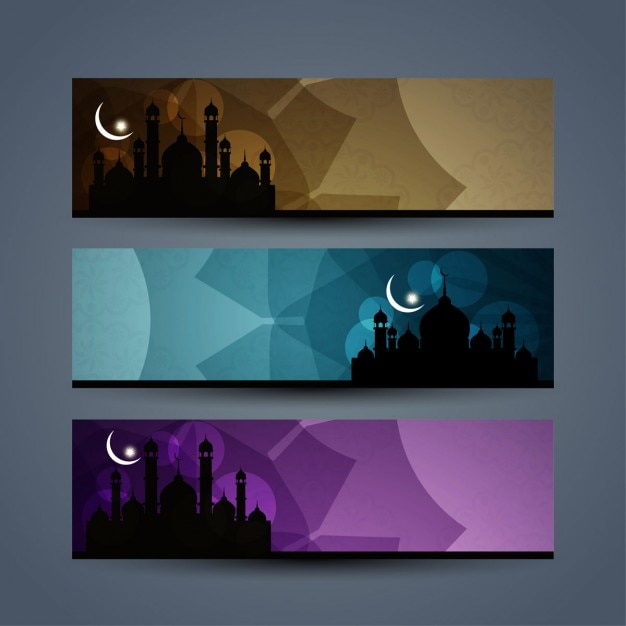 Islamic banners set Vector | Free Download